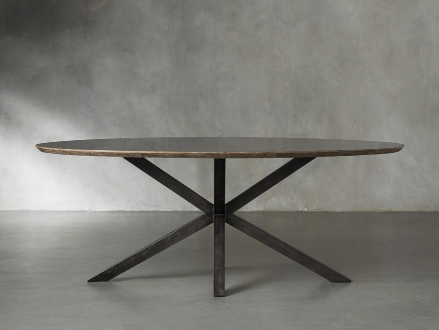 Meridian Dining Table Stone Top Dining Table Dining Table Oak Dining Table