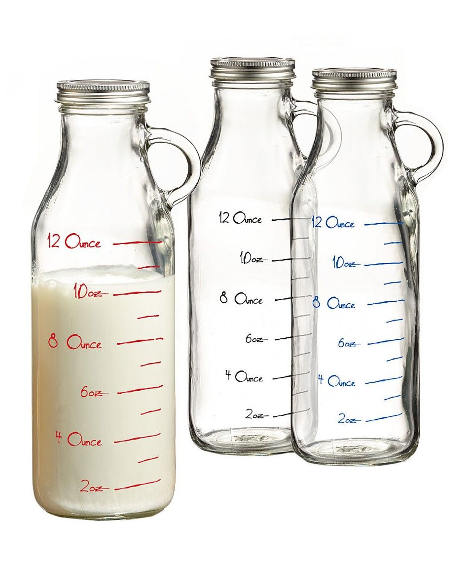 Take A Look At This Measuring Milk Bottle Glass Set Of Three