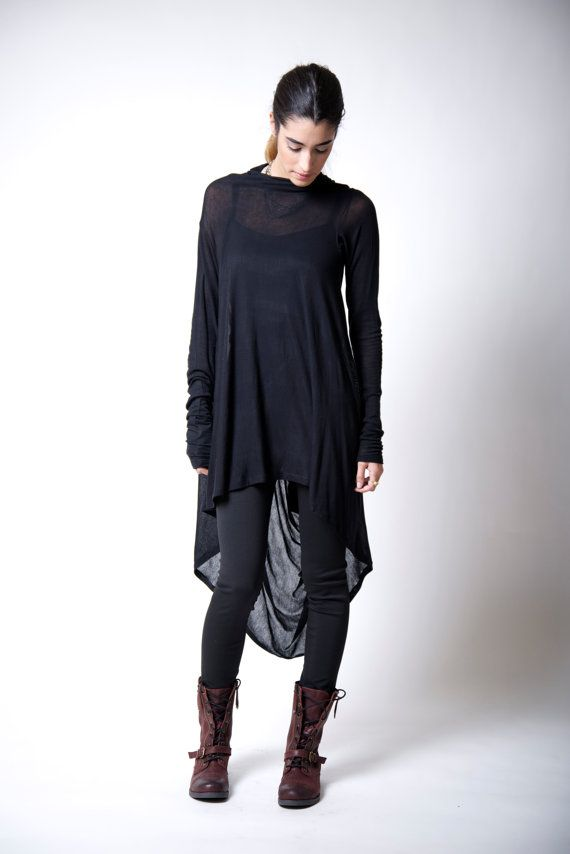 Oversized Blouse  Off Shoulder Top  Asymmetric Tunic  Fashion Blouse  Casual Top  Everyday Blouse  Marcellamoda MB0007