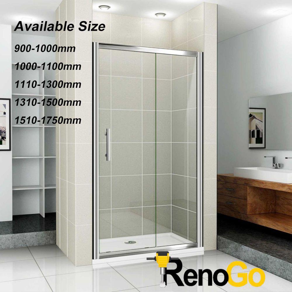 Adjustable Wall To Wall Sliding Door Framed Shower Screen Bathroom