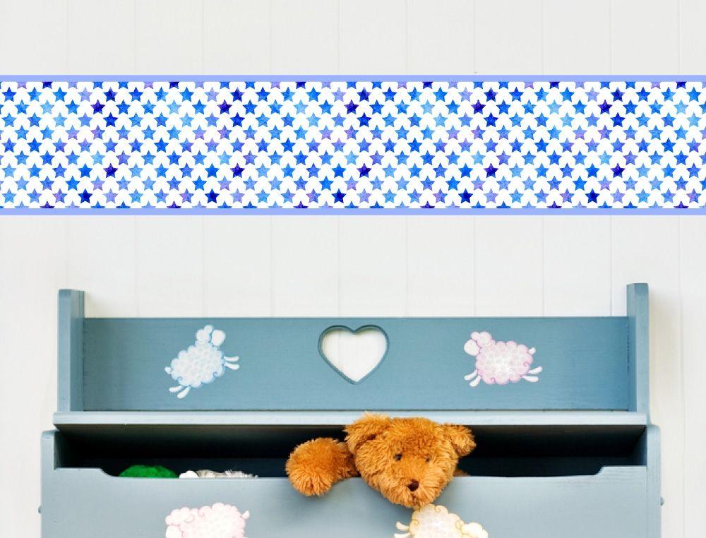 Kinderzimmer Sterne Bordüre - I-love-Wandtattoo.de   Kinderzimmer ...