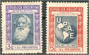 Resultado de imagen para estampillas argentinas 1944 Pro Cartero