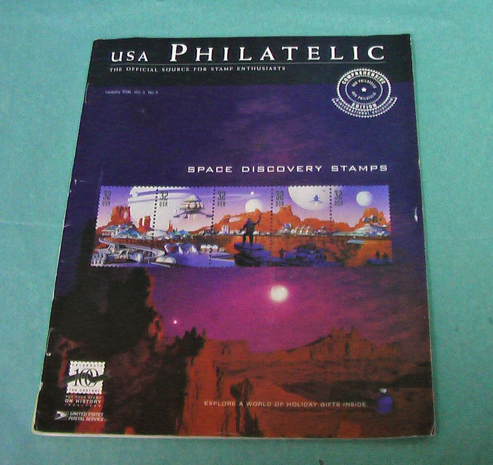 1998 USA Philatelic Stamp Catalog Holiday Space Discovery Stamps USPS Booklet