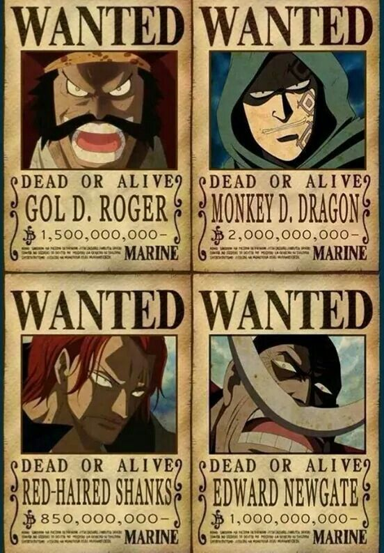 Roger, Dragon, Whitebeard, and Shanks ♡ | Anime ι═══════ﺤ ...