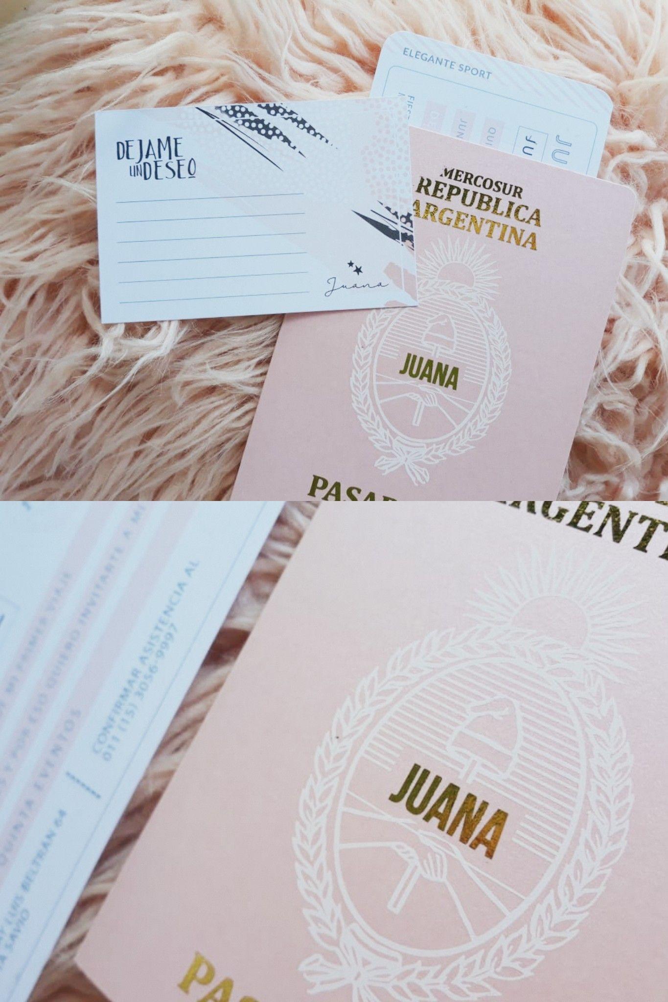 Invitación Tipo Pasaporte Tarjetas Vip Ambientacion