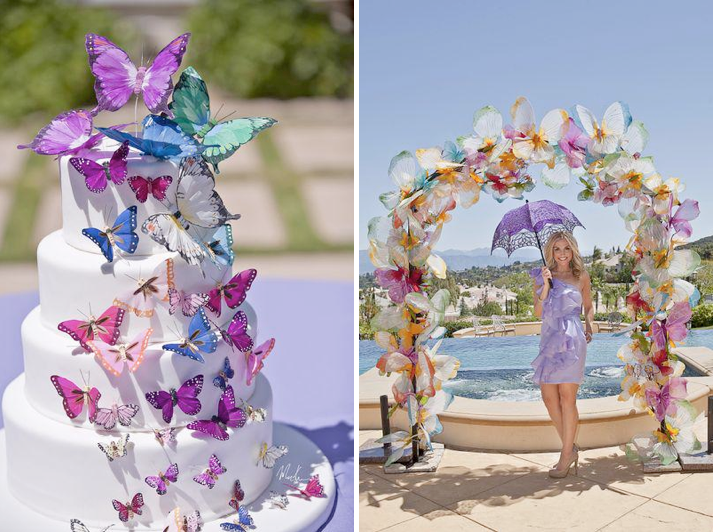 Butterfly Themed Summer Bridal Shower Party Celebration Via Karas Ideas