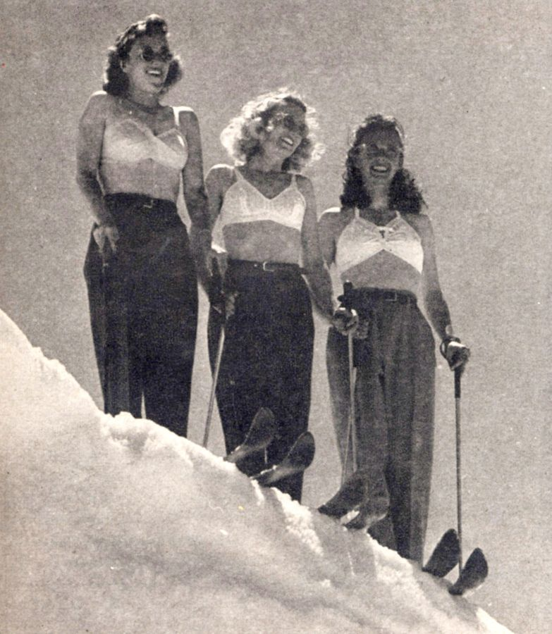 Back In The Day With Images Vintage Ski Posters Vintage Ski Ski Bunnies
