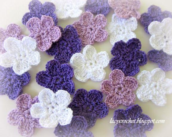 Brunfelsia Inspired Crochet Flowers Pattern In Diagram Available