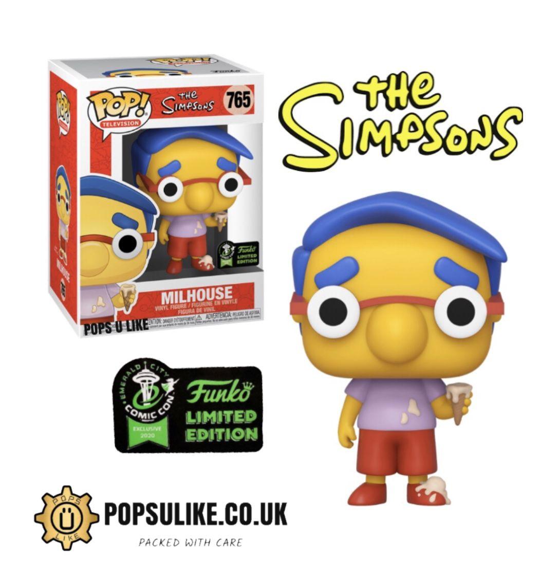 Los Simpsons ECCC 2020 EXCLUSIVO Milhouse 45922 FUNKO POP