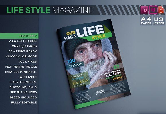 Life Style Magazine Template @creativework247 | Templates ...
