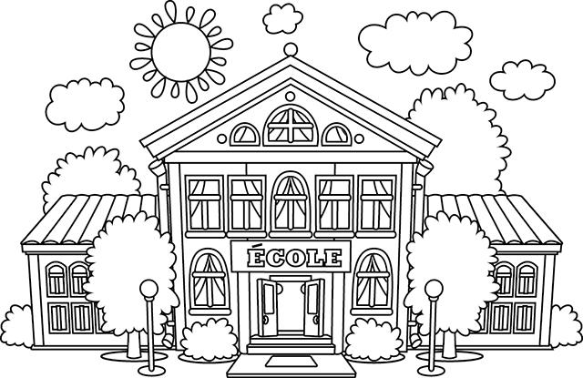 Coloriage Dune Ecole A Imprimer.Epingle Par Giray Karagun Sur 1calisma Yapraklari Icin