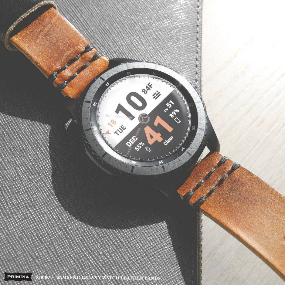 Primria Shared A New Photo On Etsy Leather Leather Watch Samsung Watches