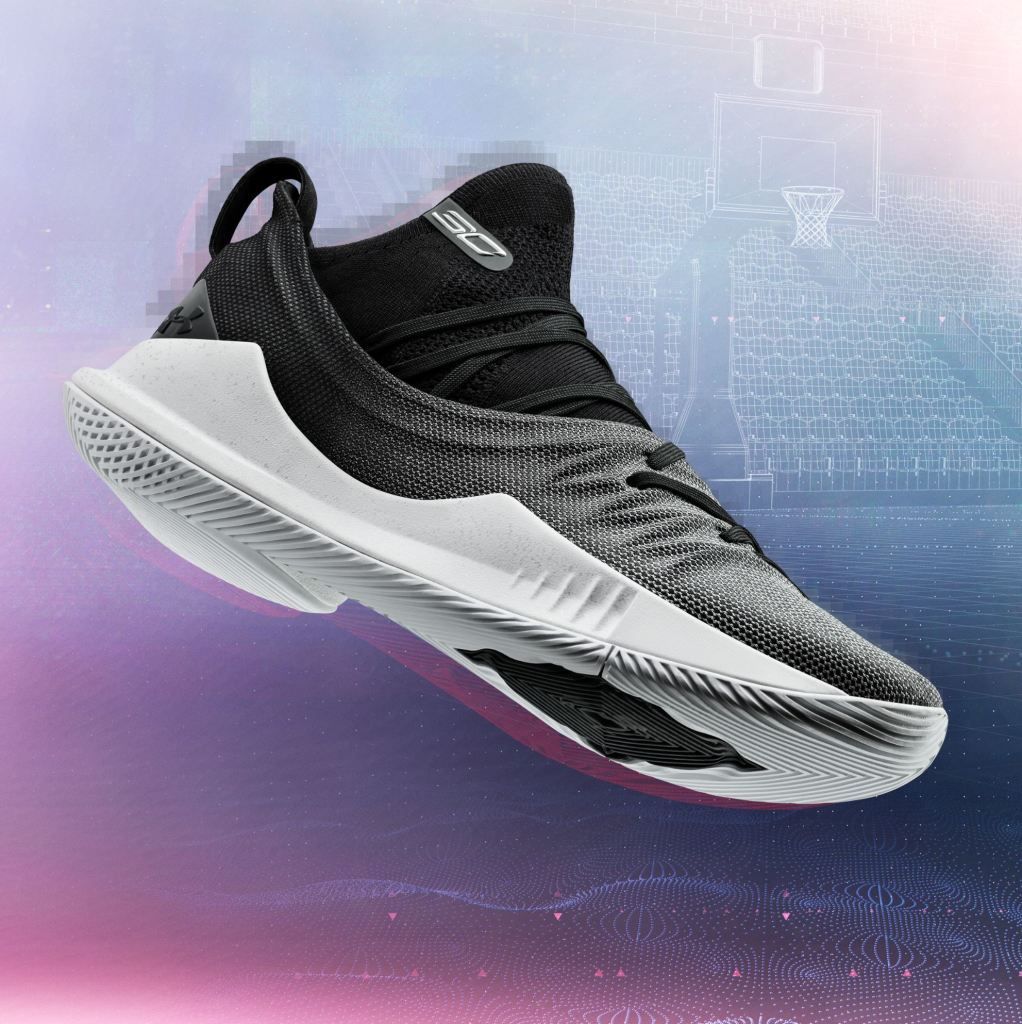 4ffe505d7bc under armour curry 5 black white