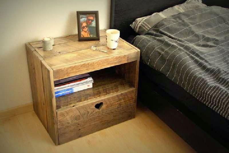 Muebles De Palets Instrucciones Para Hacer Una Mesita De Noche Con - Como-hacer-mesitas-de-noche