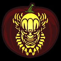 Killer clown pattern halloween pinterest pumpkin for Creepy clown pumpkin stencil