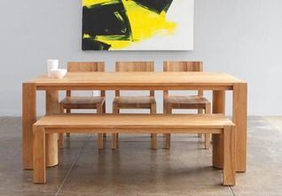Clean Lines Bench And Chairs Mash Studios Dining Table Modern