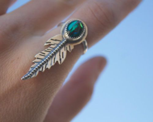 AS-NEW-MERMAID-BY-HAND-Seabird-Feather-Ring-EC-size-6-RRP-120