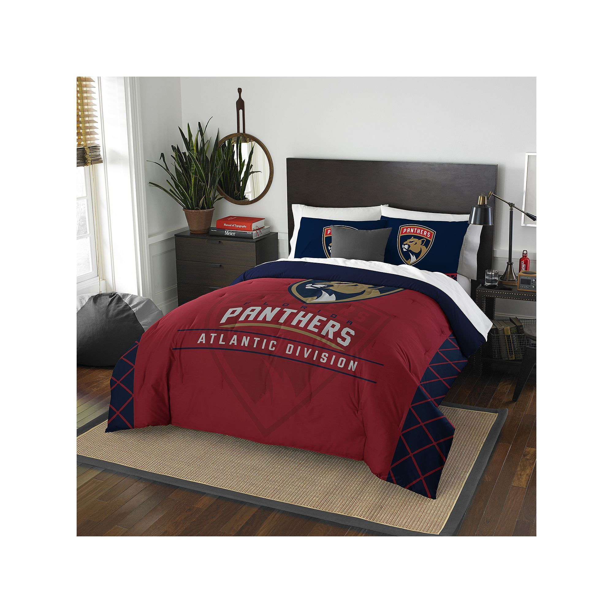 Officially Licensed NFL Draft Full//Queen Comforter and 2 Sham Set 86 x 86 Multi Color