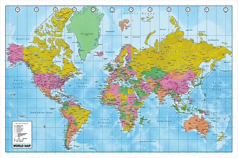 World map maxi poster 61cm x 915cm new sealed maps world map maxi poster 61cm x 915cm new sealed gumiabroncs Images