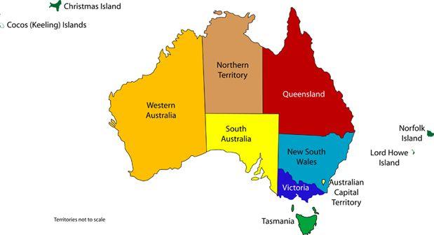 Map Of Australia By State.Australian States Map Flags Australian Art Australia For Kids