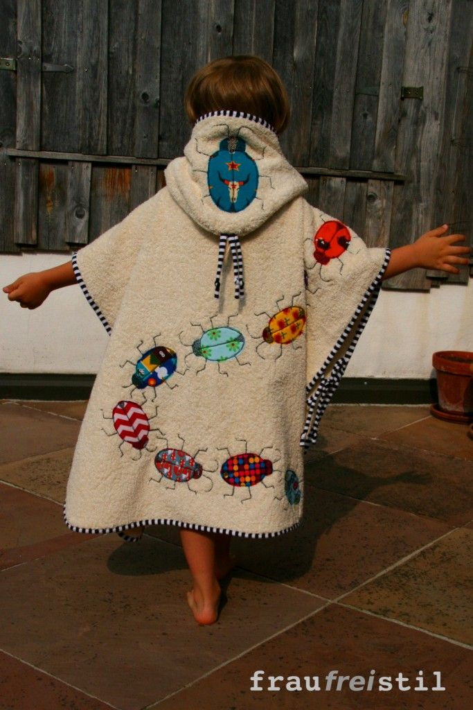 BADEPONCHO | Manualidades | Sewing, Sewing Projects und ...
