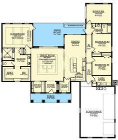 Plan ka one floor country house also in inside home rh pinterest