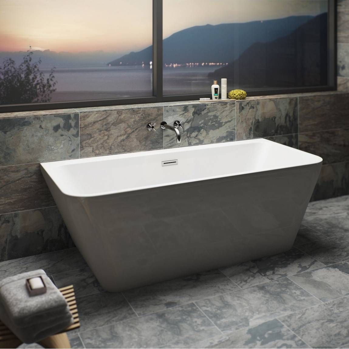 Mode Carter back to wall bath | Bath soap, Soap dishes and Bath