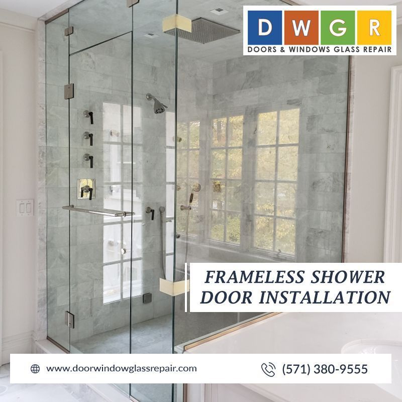 Frameless Shower Door Installation Glassrepair Doors And Windows Glass Repair Take Great Pride Shower Door Installation Window Glass Repair Glass Shower Doors