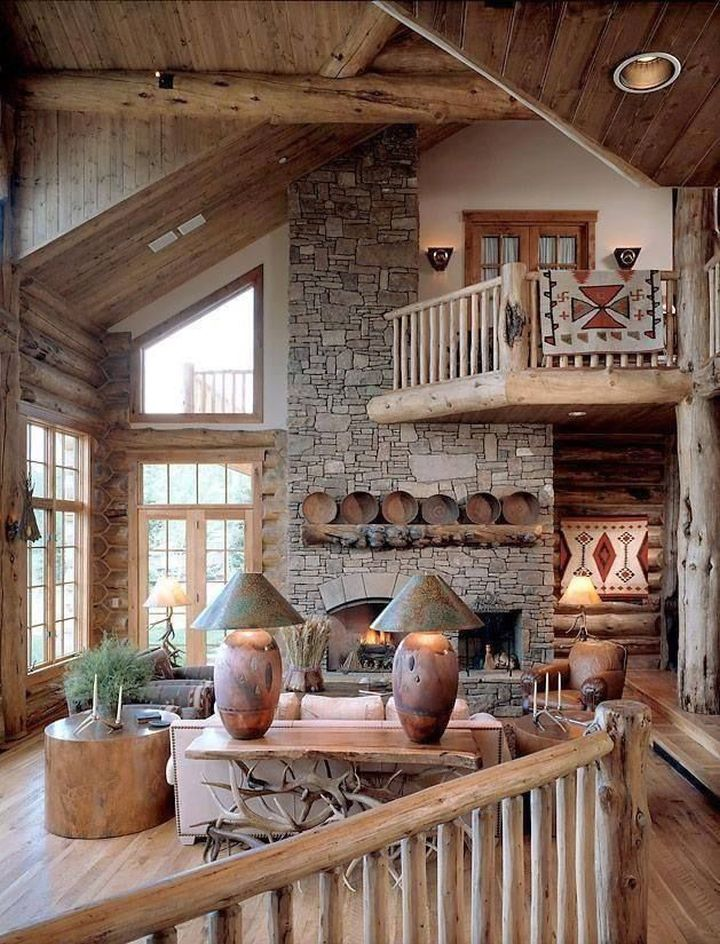 Rustic Living Room Ideas With Indoor Balcony A Perfect Fire