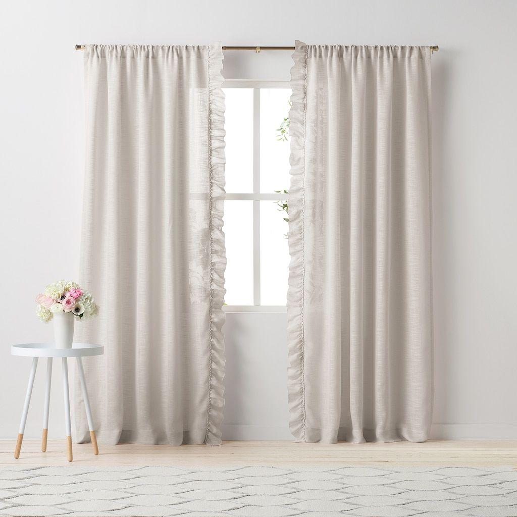 Side Ruffle Window Curtain