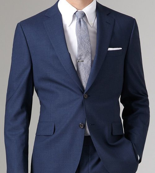 navy suit   white shirt & cotton grey tie. | Fashion | Pinterest ...