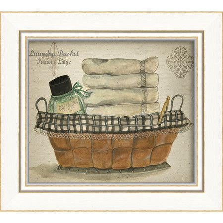 I pinned this laundry basket framed wall art from the laundry room refresh event at joss