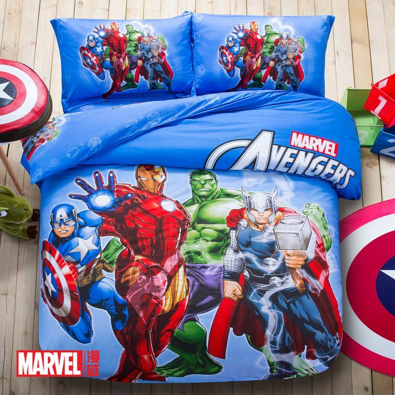 Best Marvel Avengers Kids Cartoon Bedding Set In 2020 400 x 300