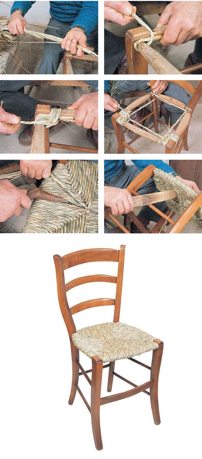 impagliare sedie, impagliatura sedie, come impagliare, impagliare ...