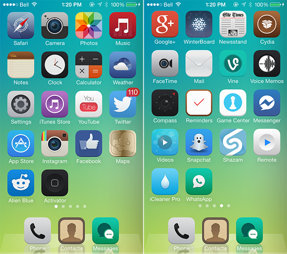 The Best Winterboard Themes For Ios 7 Ios 7 Ios Theme