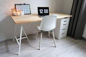 Afbeeldingsresultaat voor ikea ladekastjes met houten blad bureau