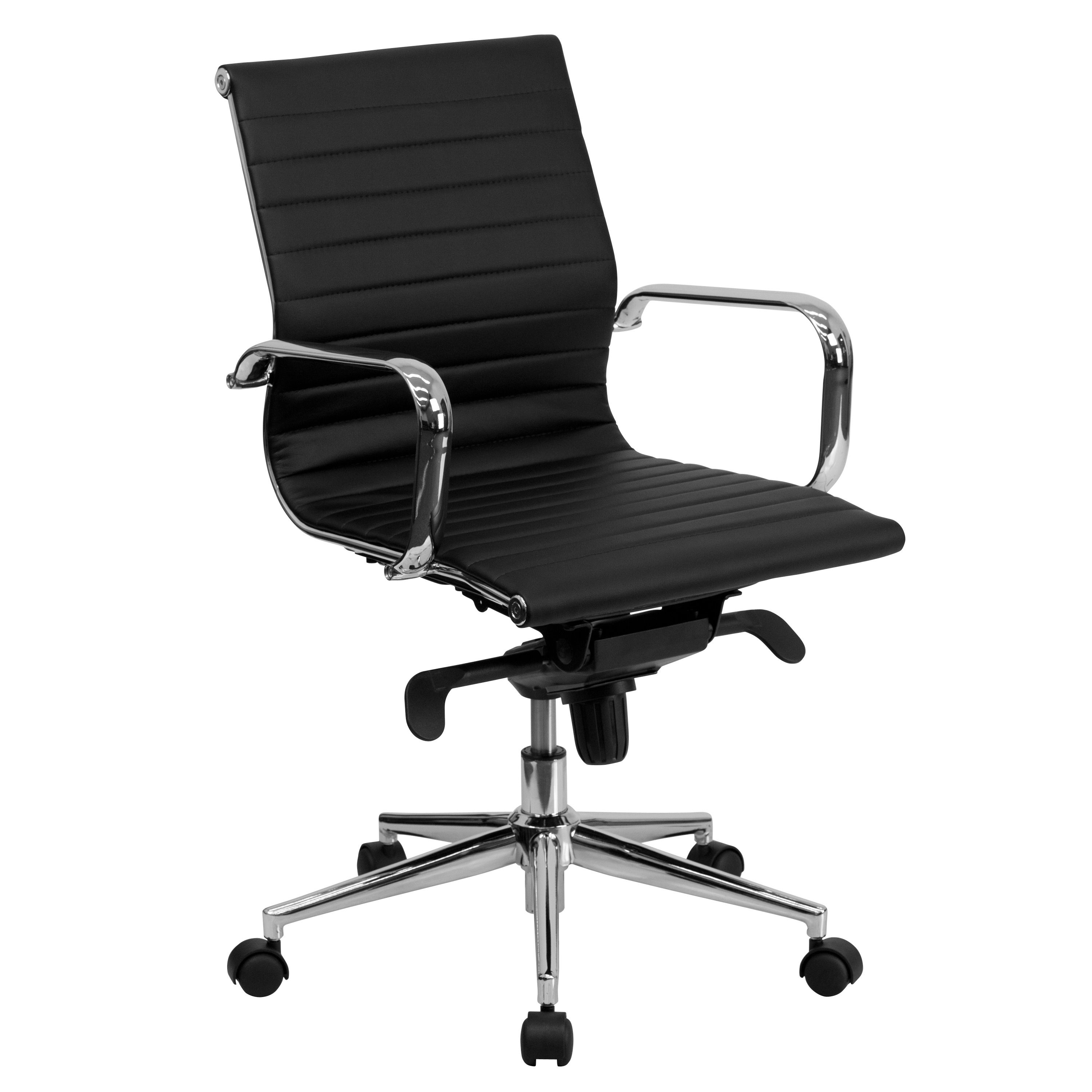 """The """"Corona"""" cool desk chair (in Black) offers a modern look for ..."""