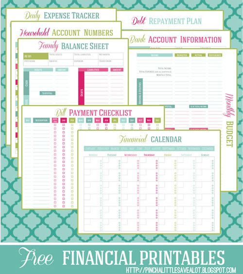 Free printable Financial Management Planners/Trackers Free