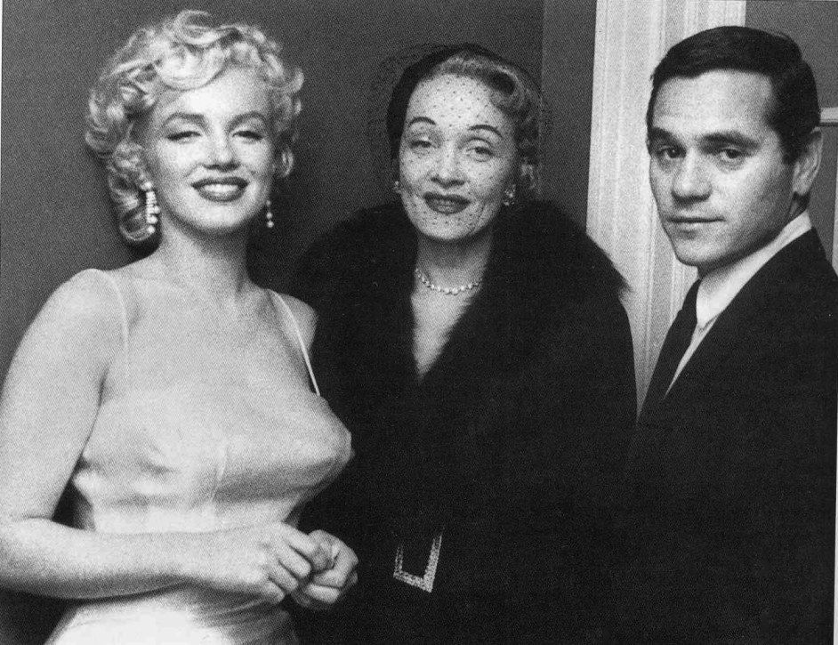 Marilyn Monroe, Marlene Dietrich, and Milton Greene -- circa 1950s