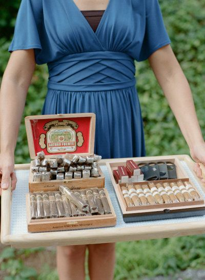 #cigars Photography by kateheadley.com Event Design + Planning by ritzybee.com Floral Design by hollychappleflowers.com  Read more - http://www.stylemepretty.com/2012/04/27/baltimore-wedding-at-the-evergreen-museum-library-by-kate-headley-photography/