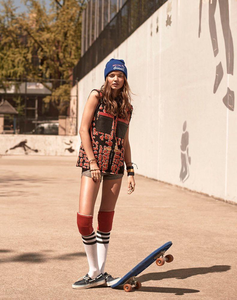 Спортивная фотосессия со скейтом