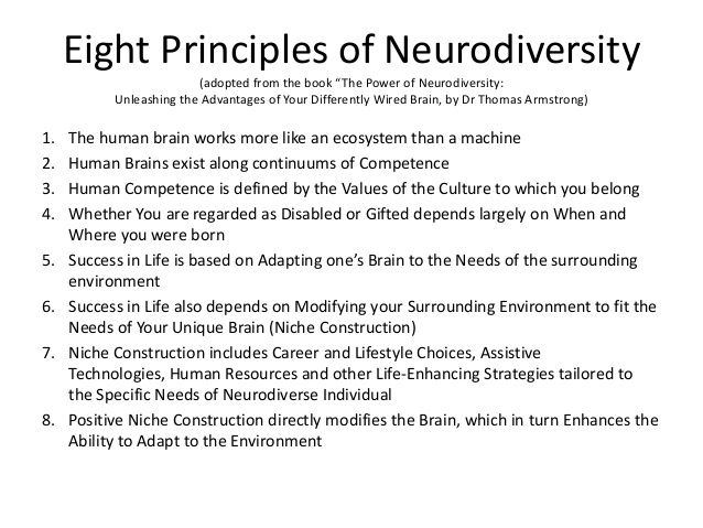 Eight Principles of Neurodiversity (adopted from the book u201cThe Power - new periodic table autistic