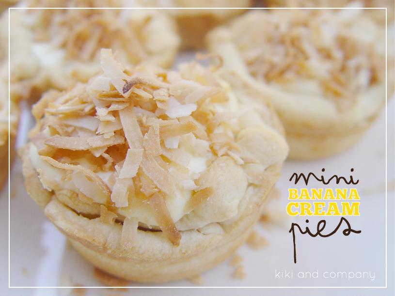 mini banana cream pies..quick and delicious!