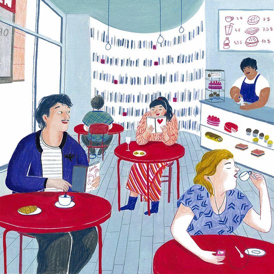 Hay amor en el ambiente… entre lectores (ilustración de Iratxe López de Munáin)