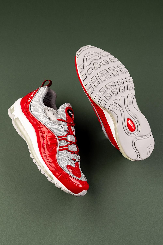 """Nike Air Max 98 """"Supreme Red"""" 844694 600 in 2020 Air"""