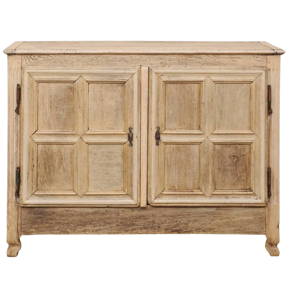 French 18th Century Bleached Oak Wood Cabinet With Clean Lines And Two Doors In 2020 Wood Cabinets Oak Wood Oak Furniture