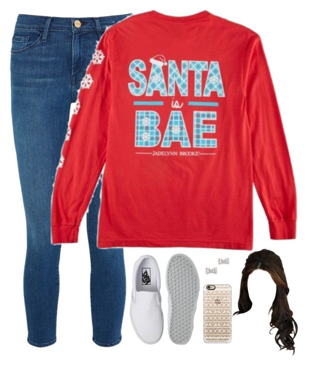 """Tomorrows *exact* OOTD"" by evieleet ❤ liked on Polyvore featuring Frame Denim, Vans, Casetify and Marc by Marc Jacobs"