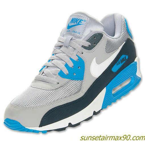 Nike Men's Running Shoes Air Max 90 Essential Wolf Grey/White/Armory Navy