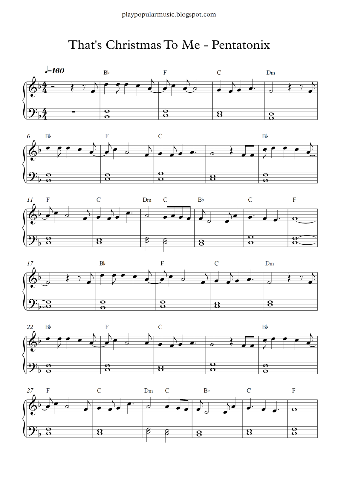 Free Piano Sheet Music That S Christmas To Me Pentatonix Pdf The Only Gift I Ll Ever Need Christmas Sheet Music Piano Sheet Music Free Easy Piano Sheet Music