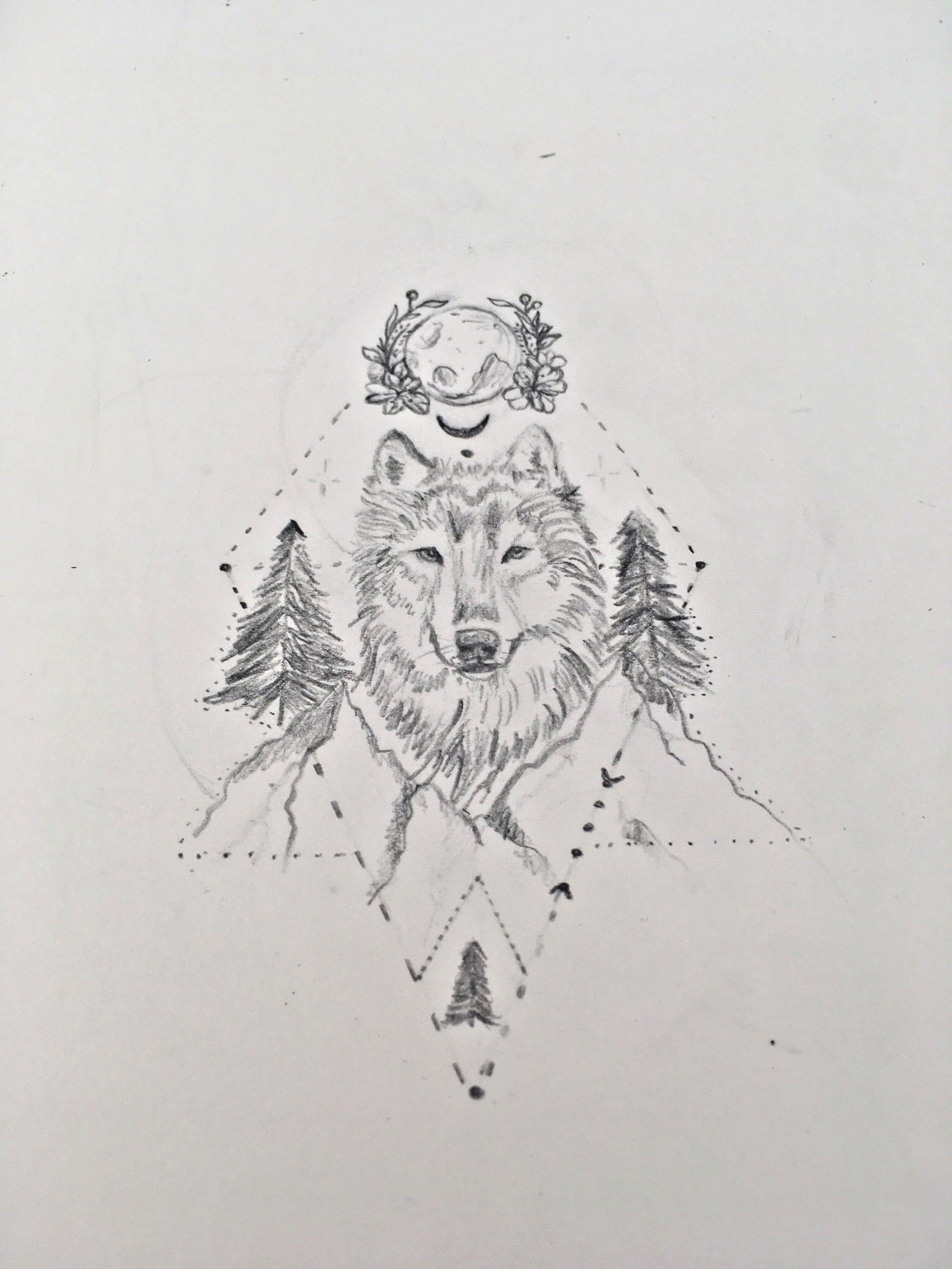 dessin tatouage loup tattoo wolf wolf designs de. Black Bedroom Furniture Sets. Home Design Ideas